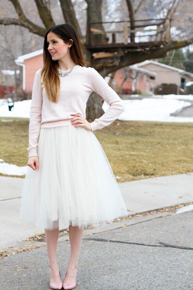 tulle skirt tutorial // cottonandcurls