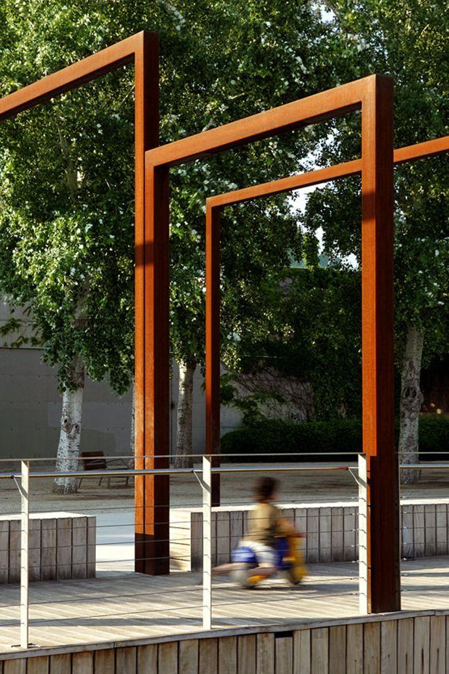 Les 26 meilleures images du tableau acier corten sur pinterest acier corten acier et architecture - Pergola corredera ...