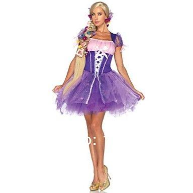 mooie prinses met bandage paars terylene en chiffon Halloween kostuum – EUR € 34.38