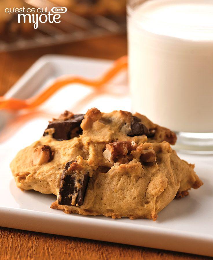 Biscuits à la citrouille et aux morceaux de chocolat #recette