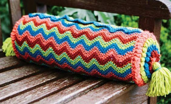 Crochet Colourful Cushion Pattern Free - Crochet Free