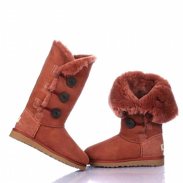 Ugg Bailey Button Triplet Boots 1873 Brick red  http://uggbootshub.com/wholesale-ugg-boots-ugg-bailey-button-triplet-1873-c-1_11.html