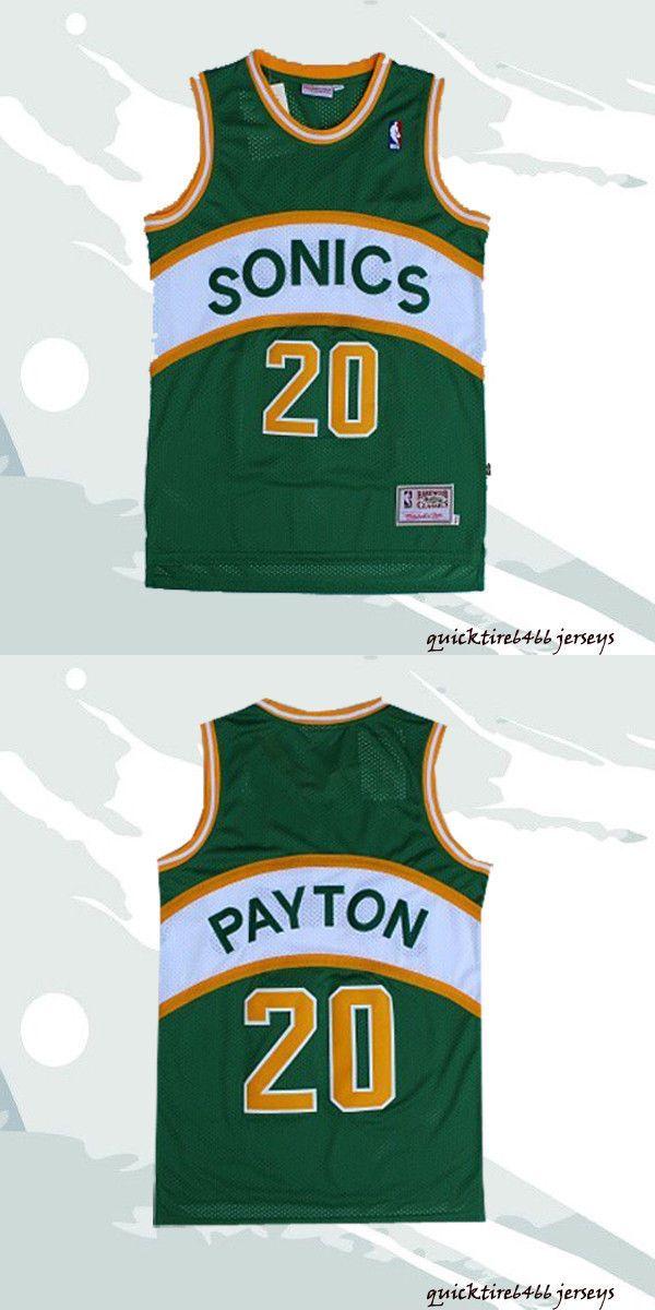 Clothing 158964  Gary Payton  20 Men Sonics Basketball Jersey Seattle  Sonics Green Sewn -  BUY IT NOW ONLY   25.99 on  eBay  clothin… 149ad22b8f2e