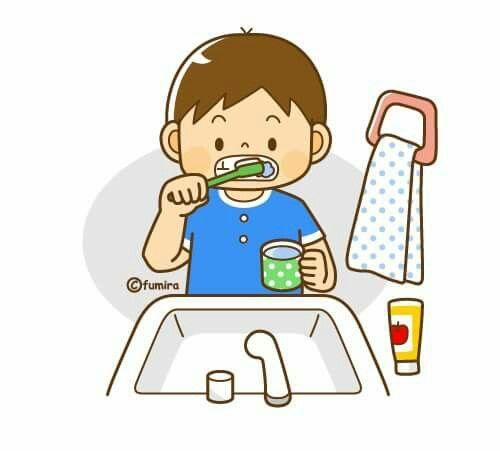 I brush my teeth every day.