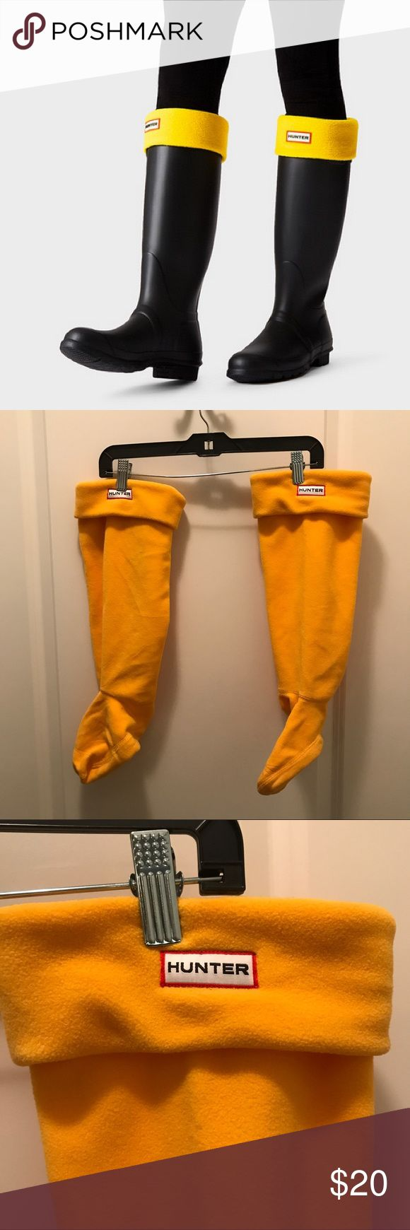 NWOT - Yellow Hunter Boots Socks Super warm fleece socks for the tall Hunter boots! Never worn, great condition. Offers welcome Hunter Boots Shoes Winter & Rain Boots