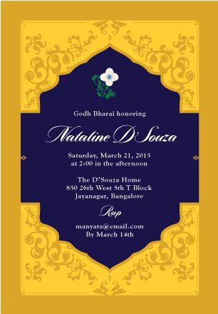 Floral Lantern | Custom Godh Bharai Invitations