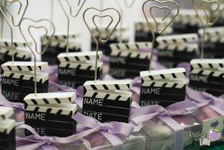 fragola lilla: Bomboniere-Segnaposto in tema cinema