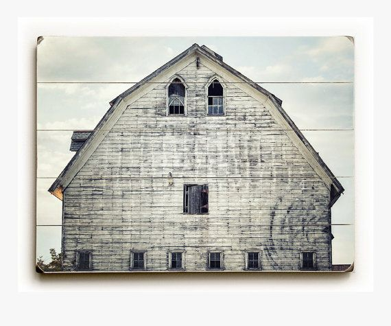 SANDFORD BARN - A lovely old white barn printed on distressed wood planks. Unique ready-to-hang wall art. ☞ Use drop-down list to select size. ✓ All images available as prints, canvas wraps or wood plank art. ◎ Colors may vary slightly due to differences in monitors. ✎ Number of planks, distressing and crop will vary by size. ✕ No framing required! ➽ Wood planks are custom made to order and final sale, please allow up to 3 weeks for production. ⚐ Only shipped to US addresses at this time…