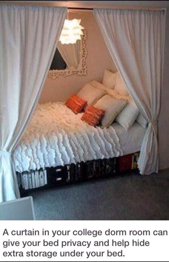 For Your College Dorm Room Hacks And Facts Pinterest Privacy Panels Cozy Bed And College
