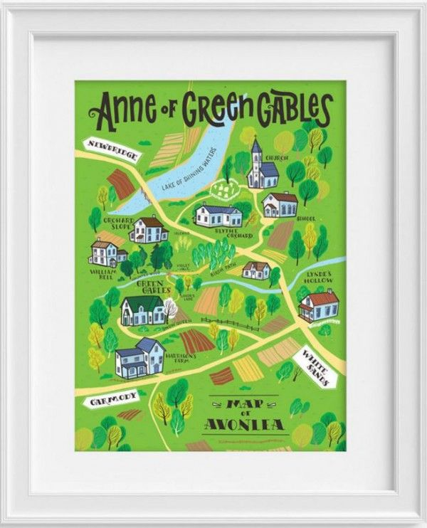 Anne of Green Gables Poster (Map) - Anne of Green Gables - Period Drama