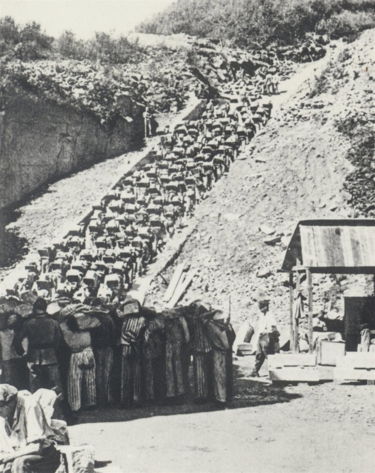 Granite Quarried In Mauthausen : The stairs of death on january first