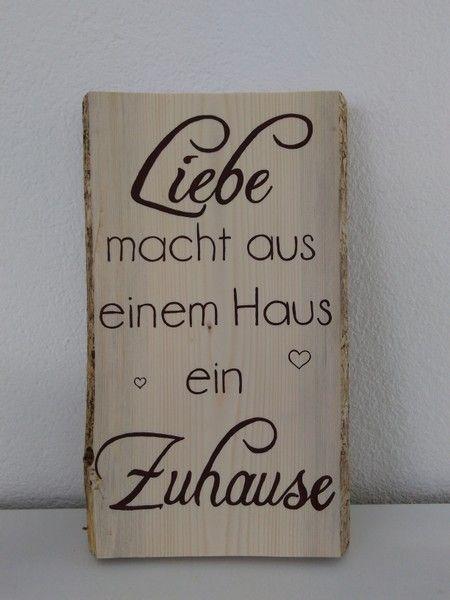 Galerie Hölzer – Schrift Sprüche in Holzschwarte Holzschilder