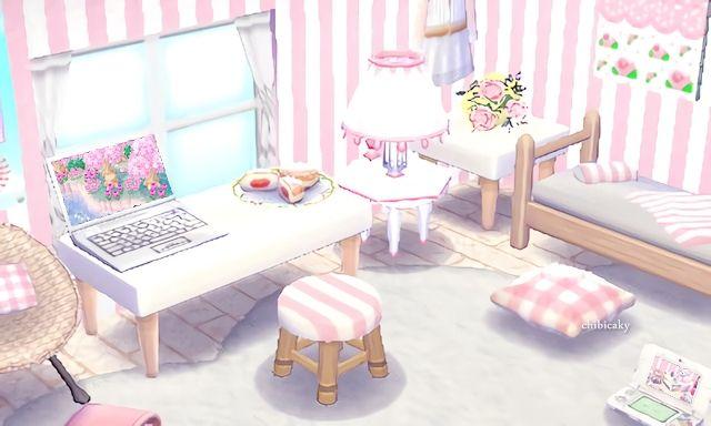 || Décoration bureau dans les tons roses pastel tout cute