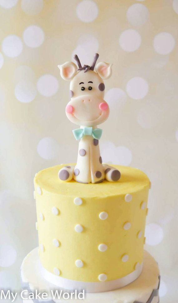 Check out this item in my Etsy shop https://www.etsy.com/listing/239936937/fondant-baby-giraffe-cake-topper-baby
