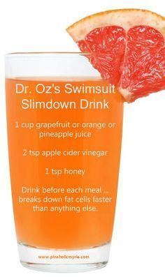 Dr.Ozs Slimdown drink. Bathing suit season will be here before we know it!