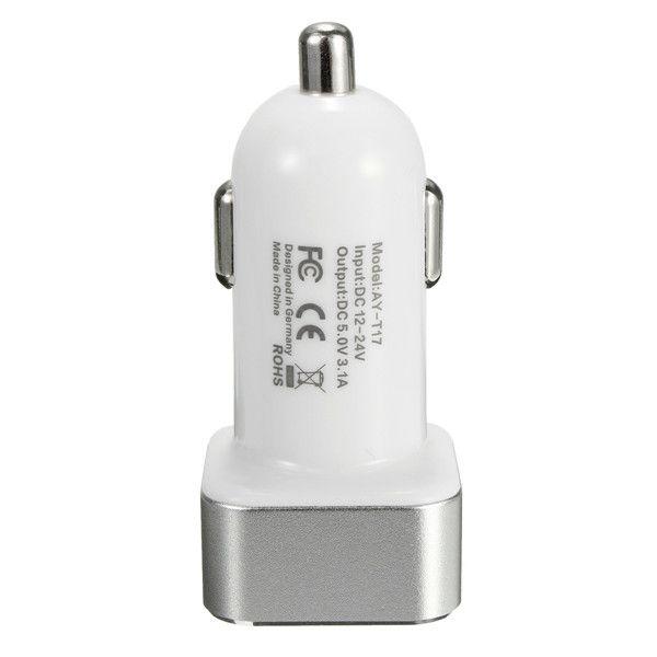 3.1A Coche Encendedor de cigarrillos Digital Volt Meterr Adaptador de cargador USB doble Lcd Pantalla