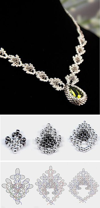 How to make bead weaving necklace. Click on image to see step-by-step tutorial