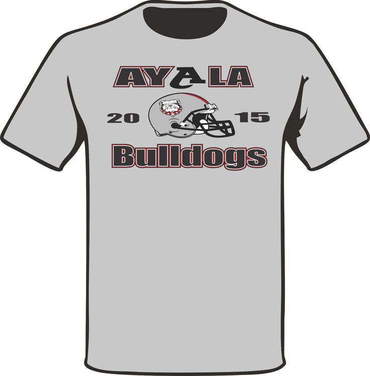 Another Chest logo piece on an Ash Grey T-Shirt for the 2015 football Coaching Staff of Ayala High School. #PracticeGear #BulldogNation #AyalaBulldogs #ArtWorkRendering