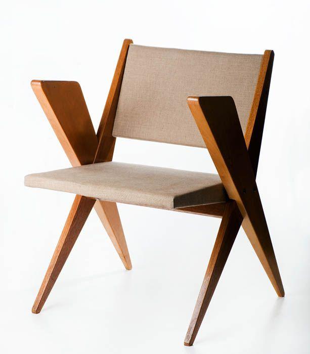 """Designer: Jan Kurzątkowski, """"Bull"""", armchair, c.1960"""