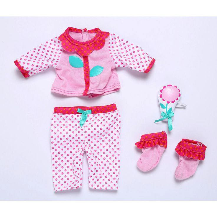 Baby Alive One Size Fits All Outfits - Sweet Dream Nighty. Fits dolls Baby Alive dolls sized 12 - 14 inches. Doll sold separately. Help your baby relax in this cute and comfy pajama set adorned in a floral pattern! Set includes PJ top, PJ bottoms, soft rattle, and booties. Appropriate for ages 3 and up.