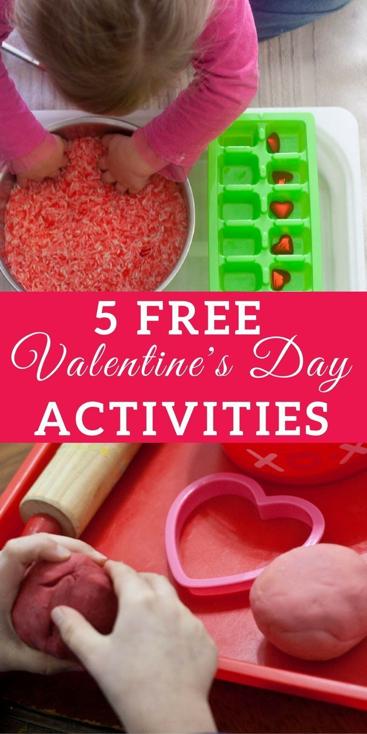 5 Free Valentine's Day Activities for Kids Ages 2-6   hands-on learning, sensory play, tactile activities