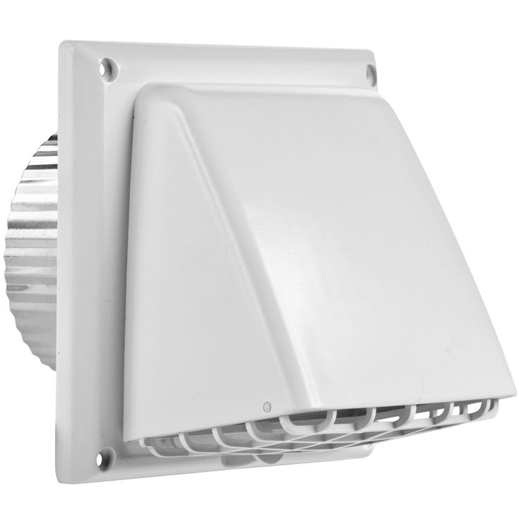 IMPERIAL 4-in Plastic Preferrered with Guard Dryer Vent Cap