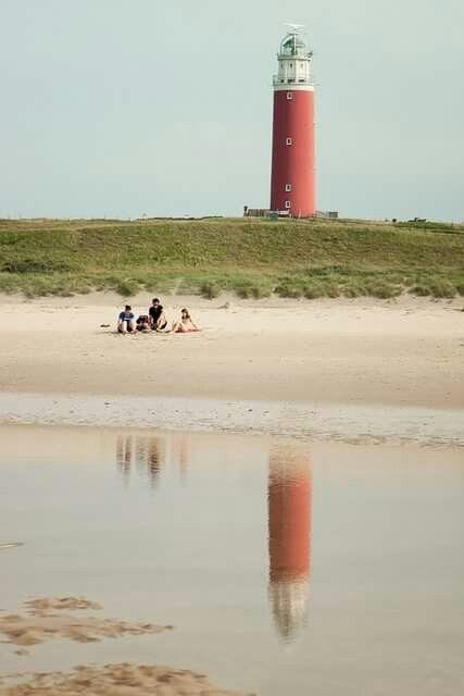 De vuurtoren van Texel bij De Cocksdorp. The Netherlands
