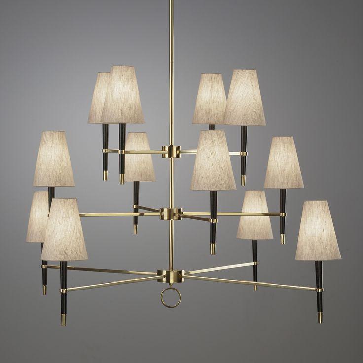 Modern Lighting | Ventana Three-Tier Chandelier Ceiling Lamp | Jonathan Adler