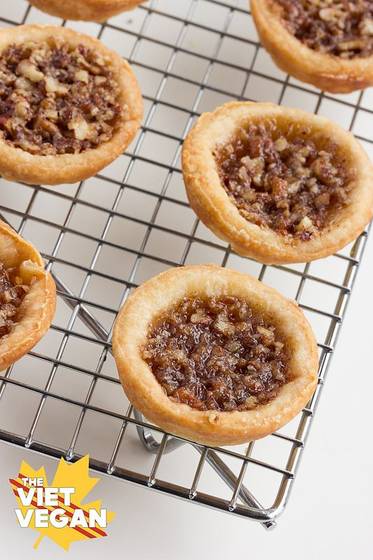 Pecan Butter Tarts | The Viet Vegan | Sweet, crisp, buttery and totally dairy-free!