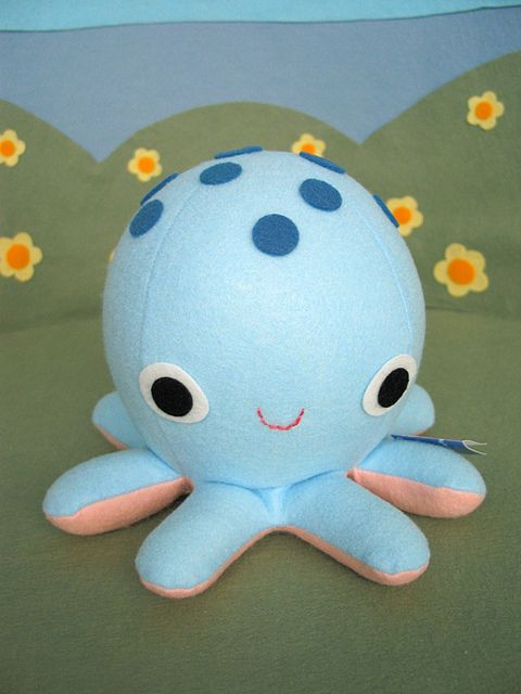 octopusSewing Felt, Blue Octopuses, Diy Crafts, Octopuses Stuffed, Sewing Softies, Adorable Pillows, Random Fandoms, Diy Easy, Fantastic Toys