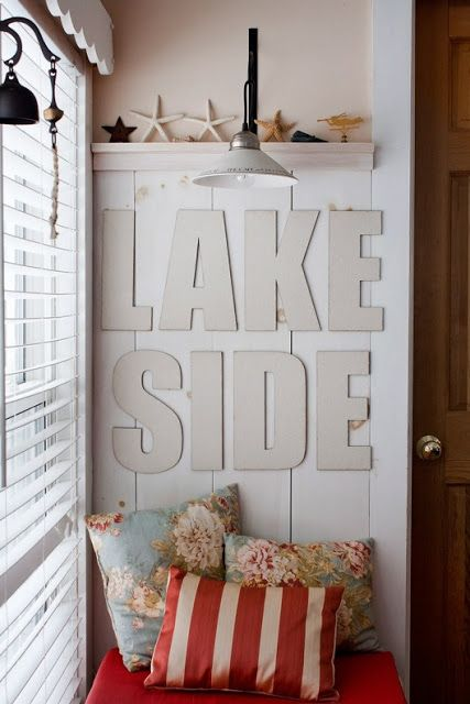 "nautical + beachy inspiration. for the :: Lake House Dreamin'.....could also say ""ocean"" or ""beach"""