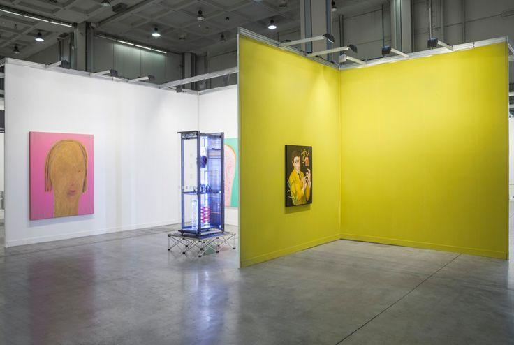 Simon Denny, Patrizio Di Massimo, Lorenzo Scotto di Luzio. Installation view at Miart 2016, 8-10 Aprile 2016 . Photo credit: Sebastiano Pellion di Persano