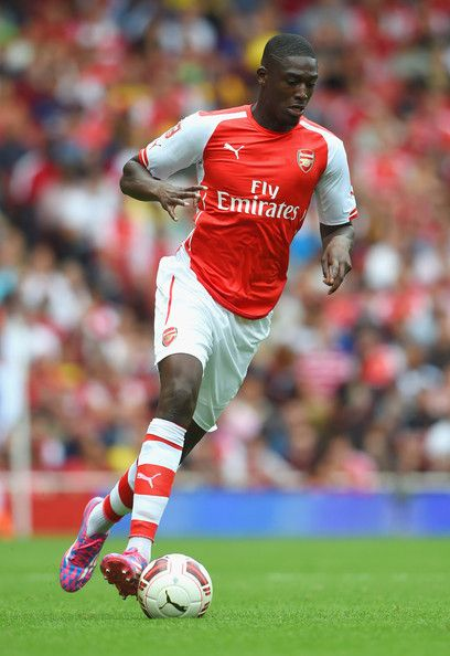 Yaya Sanogo of Arsenal FC in the Emirates Cup