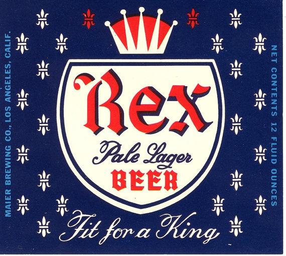 Vintage beer label.