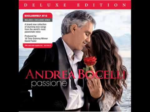 Andrea Bocelli - Champagne Don't know what he is saying in his music, but it moves my soul to tears.