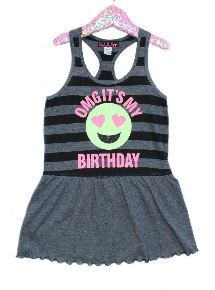 Vestido de cumpleaños, niñas vestido de Emoji, cumpleañera, camisa de Tween, Emoji cara, cara feliz, cumpleaños de Emoji, vestido del tanque de madgrrl en Etsy https://www.etsy.com/es/listing/293158997/vestido-de-cumpleanos-ninas-vestido-de