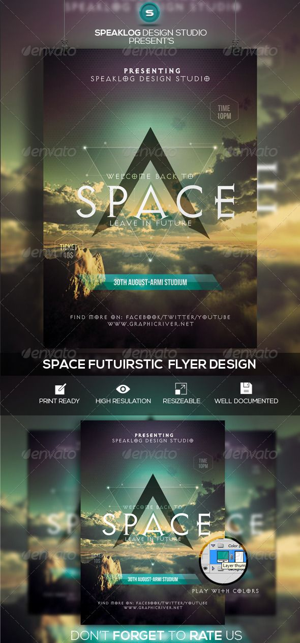Space Futuristic Flyer Design Print Template PSD | Buy and Download: http://graphicriver.net/item/space-futuristic-flyer-design/8251506?WT.ac=category_thumb&WT.z_author=speaklog&ref=ksioks