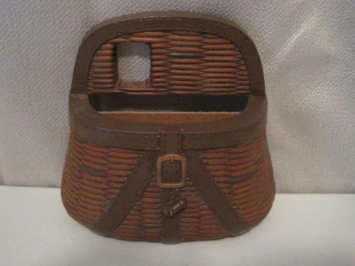 Home Interiors Amp Gifts Brown Fisherman 039 S Basket Wall Hanging Planter Pocket