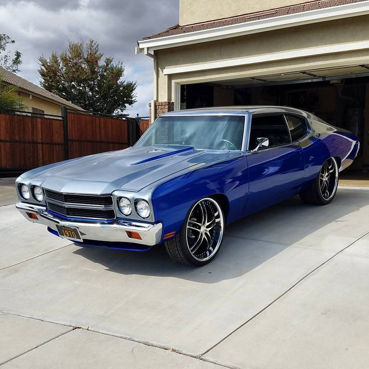 70 chevelle lsx ls3 house of kolor kandy 2 tone lexani wheels grey silver and blue... ls swap