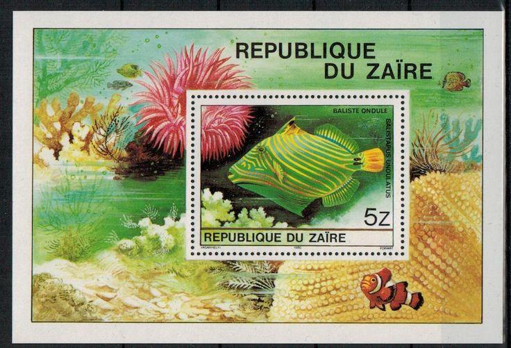Congo (Zaire) Tropiska Fiskar Block/**    1980