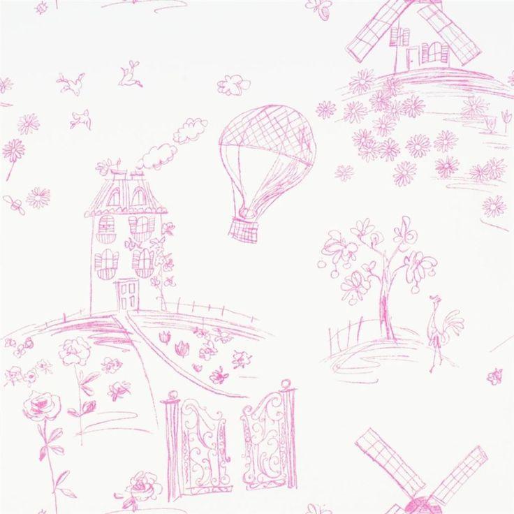 meadowsweet - peony wallpaper | Designers Guild Kids