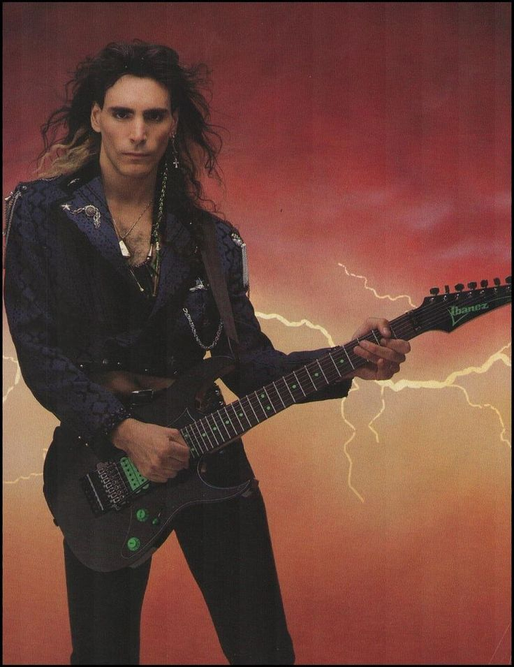 Steve Vai Signature Ibanez Jem Guitar 8 X 11 Pin-up Photo #23 from $4.95