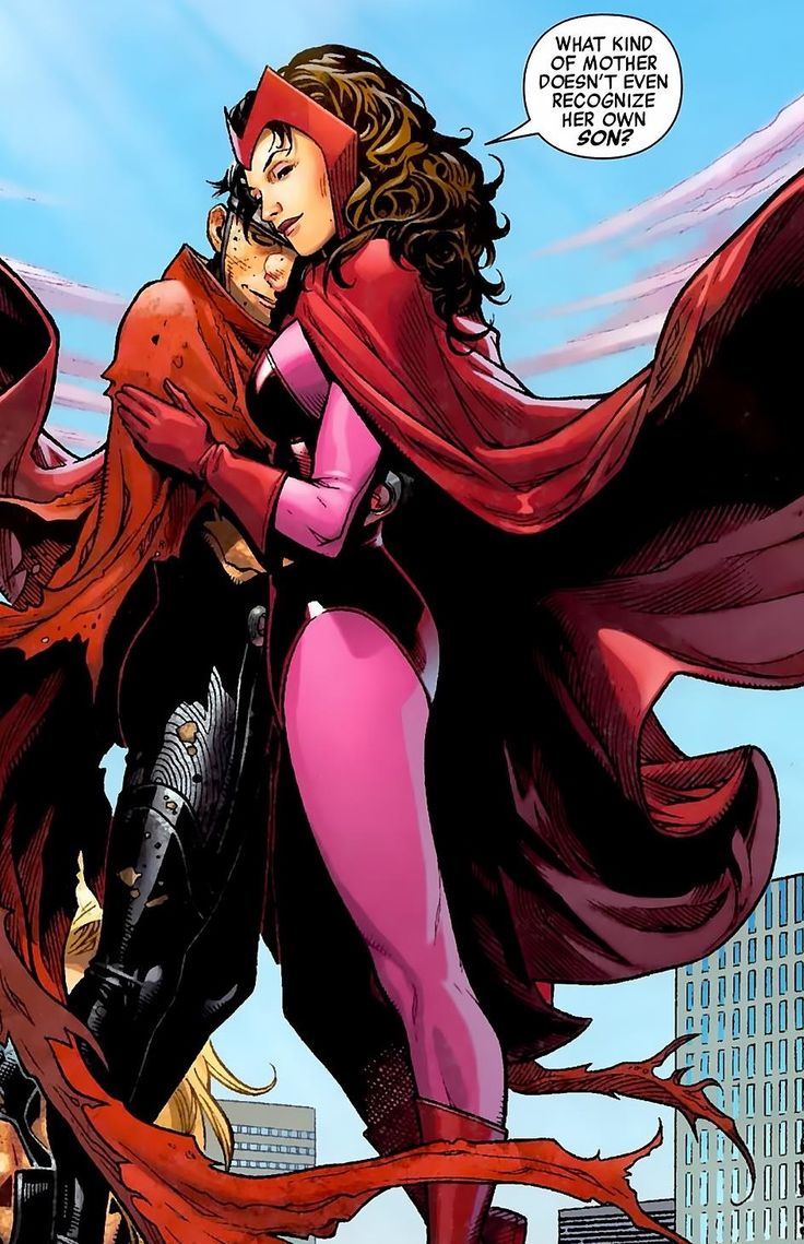"""the Scarlet Witch & Wiccan by Jim Cheung - """"What kind of mother doesn't even recognize her own son?"""""""