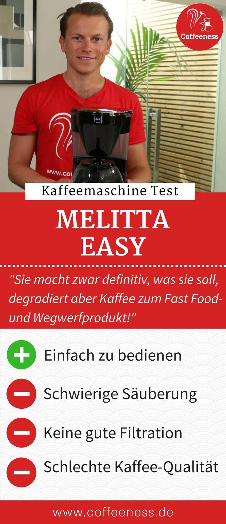 """Für """"Easy"""" bin ich ja immer zu haben, aber die Melitta Easy Kaffeemaschine macht es sich dann doch zu leicht. Sie macht zwar definitiv, was sie soll, degradiert aber Kaffee zum Fast Food- und Wegwerfprodukt, bei dem die Qualität so gar keine Rolle spielt. Welche preiswerte Kaffeemaschine ich euch anstatt dessen empfehlen würde, erfahrt ihr in meinem ausführlichen Test der Melitta Easy. #Kaffeemaschine #Coffeeness #Kaffee #Küche"""