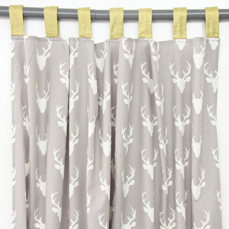 Curtain Panels Woodland Deer Set Of 2 Baby Boy