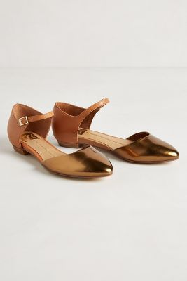 bronze and leather flats #anthropologie #anthrofave