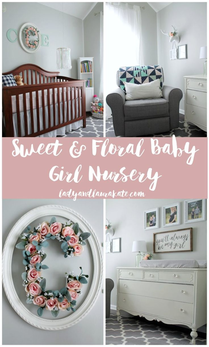 Sweet and Floral Baby Girl Nursery