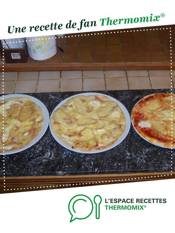 Pâte à pizza géniale par camelia62fanny. Une recette de fan à retrouver dans la catégorie Tartes et tourtes salées, pizzas sur www.espace-recettes.fr, de Thermomix<sup>®</sup>.