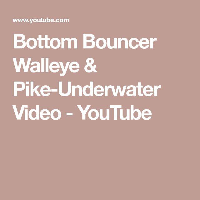 Bottom Bouncer Walleye & Pike-Underwater Video - YouTube
