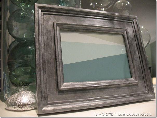 zinc finish on frames #zinc #painting_furniture #refinishing